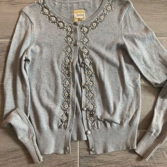 Fossil Sweaters - Fossil beaded sweater